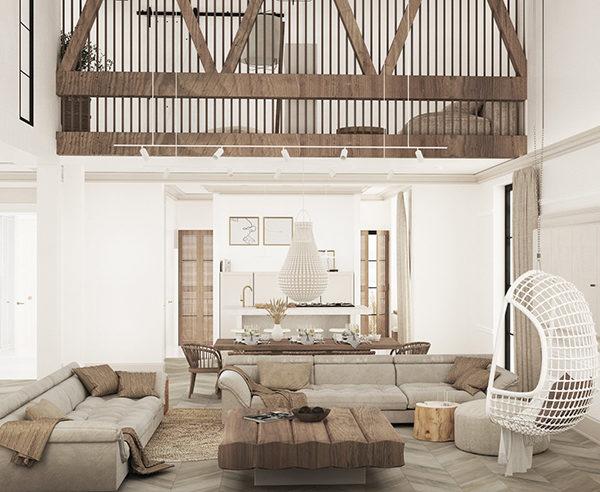 Wnętrze domu jednorodzinnego 210m2 - Kościan